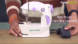 How to use Portable Mini Sewing Machine in Hindi HD width=