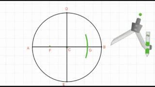 طريقة رسم الشكل الخماسي المنتظم داخل دائرة