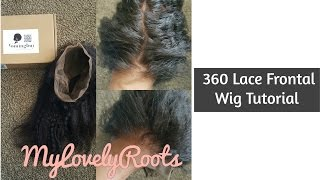 getlinkyoutube.com-How To Make a 360 Lace Frontal Wig | Detailed Tutorial | Coming Buy