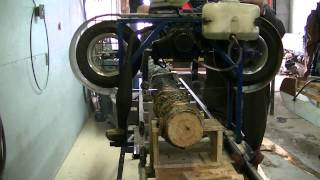 getlinkyoutube.com-Moulin a scie de poche partie 2  (homemade sawmill)