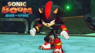 getlinkyoutube.com-Sonic Boom Rise of Lyric #03: Vs Shadow the Hedgehog - Boss Battle - Exclusivo Nintendo Wii U