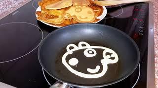 getlinkyoutube.com-Свинка Пеппа НА РУССКОМ. СВИНКА ПЕППА блины. Видео для детей Peppa Pig pancakes for kids