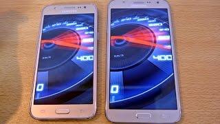 getlinkyoutube.com-Samsung Galaxy J7 vs Galaxy J5 - Speed Test HD