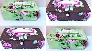 getlinkyoutube.com-Porta lenço feito com caixa de leite