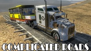 getlinkyoutube.com-Delivery - Complicated Roads - Kenworth T800 - Roadhunter - Euro Truck Simulator 2