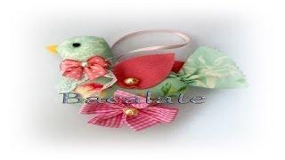 getlinkyoutube.com-Artesanato Como fazer PASSARINHO em TECIDO estilo Vintage - Dia das mães DIY