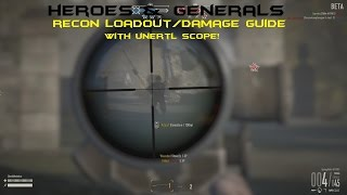 getlinkyoutube.com-Heroes And Generals Guide - US Recon Loadout (M1903 Unertl Scope)