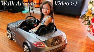 getlinkyoutube.com-RC Car Power Ride-On Mercedes-Benz Mclaren Walk Around Video w/ Maya