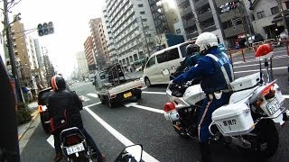 getlinkyoutube.com-NINJA 400R: 白バイと共に【SAGAMIMAC】