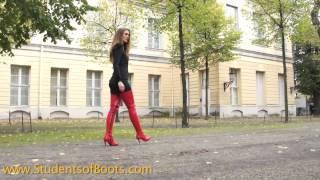 getlinkyoutube.com-Nele in red crotchhigh boots