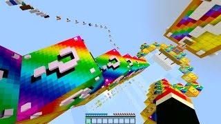 getlinkyoutube.com-Minecraft 1v1 LUCKY BLOCK DROPPER RACE!   (Minecraft Mods) - Rainbow Lucky Blocks