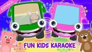 getlinkyoutube.com-Wheels on the Bus: Learn Spanish   Karaoke Song for Children   Sing Along Children's Songs