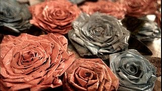 getlinkyoutube.com-Make News Paper Rose..Recycling Crafts