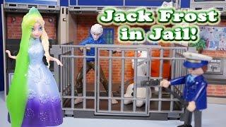 getlinkyoutube.com-FROZEN Disney Elsa Causes Jack Frost to go to Jail a Disney Frozen Toys Video Parody