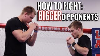 getlinkyoutube.com-How to Fight Someone Bigger Than You - Overhand Right Punch