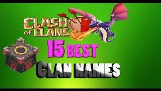 getlinkyoutube.com-Clash Of Clans - 15 unique Clan Names !!!
