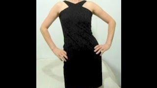 getlinkyoutube.com-Vestido Pretinho Basico sem costura