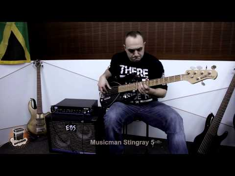 review - 5 Bass Guitars Shootout - Hohner BBass6Q, Alembic Epic5, Musicman Stingray5, Conklin GT7