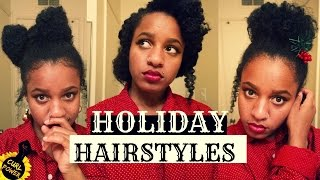 getlinkyoutube.com-HOLIDAY WINTER HAIRSTYLES FOR NATURAL HAIR | protective hair tutorial for Christmas | curl power!