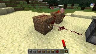 getlinkyoutube.com-Minecraft : How to make a gun   ماين كرافت : كيف تسوي مسدس