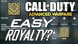 getlinkyoutube.com-Advanced Warfare: How to Unlock Royalty Camos Easily!! Potential Bug/Glitch???