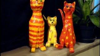 getlinkyoutube.com-Artesanato: Como fazer um gato de garrafa pet
