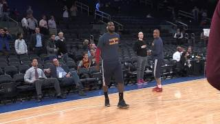 getlinkyoutube.com-LeBron James & the Cleveland Cavaliers Pre-Game Warm-ups:  12-4-2014