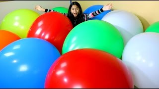 getlinkyoutube.com-MEGA HUGE BALLOON POP Worlds Biggest Balloons|  B2cutecupcakes