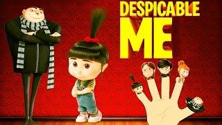 getlinkyoutube.com-Finger Family Despicable Minion Family | Finger Family Rhymes For Children in 3D|