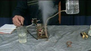 getlinkyoutube.com-Generador de Vapor Casero. ( con transformador de microondas)--Home Steam Generator. (
