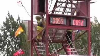 getlinkyoutube.com-Graham MacKenzie World Record (01:15.94) Fire Fighter Combat Challenge