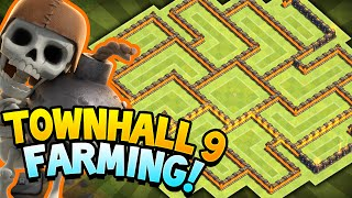 getlinkyoutube.com-Clash of Clans - TOWN HALL 9 ULTIMATE STORAGE PROTECTION!! Town hall 9 Amazing Farming BASE!