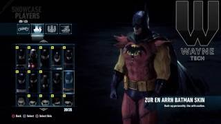 getlinkyoutube.com-Batman Arkham Knight All Skins!