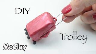 getlinkyoutube.com-DIY Dollhouse - How to make a mini travel trolley