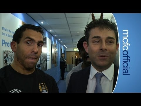FUNNY! TEVEZ & MICAH Post Match: City 5-0 Barnsley Tevez Reaction FAC6 12-13