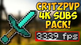 Minecraft PvP Texture Pack - Cr1tzPvP 4k Subs Edit Resource Pack FPS BOOST NO LAG 1.10 1.9 1.8 1.7
