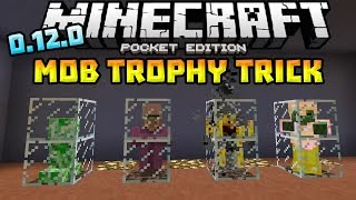 getlinkyoutube.com-Mob Trophy Trick in 0.12.0!!! - AWESOME MCPE TRICK!!! - Minecraft PE (Pocket Edition)
