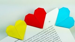 getlinkyoutube.com-Marcapáginas Corazón - Origami!