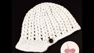 getlinkyoutube.com-Crochet hat - كروشيه قبعة
