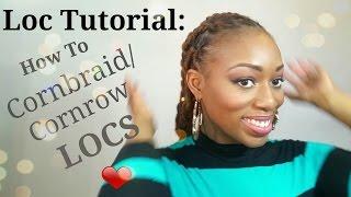 getlinkyoutube.com-Unisex Loc Tutorial: How to Braid Cornrows on Locs
