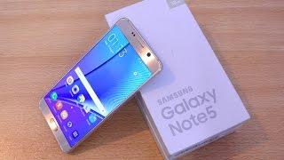 getlinkyoutube.com-Samsung Galaxy Note 5 GOLD - Unboxing, Setup & First Look HD