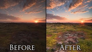getlinkyoutube.com-Post Processing Landscape Photos in 5 Minutes - Photoshop Tutorial and Workflow