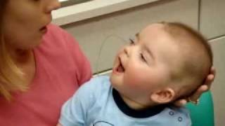 getlinkyoutube.com-8 Month Old Deaf Baby's Reaction To Cochlear Implant Being Activated