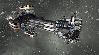 getlinkyoutube.com-Space Engineers - Automated mining ship : The Strain