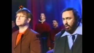 getlinkyoutube.com-Live Like Horses - Elton John & Luciano Pavarotti