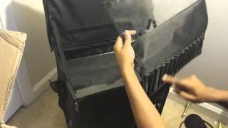 Shany Black Rolling Trolley Makeup Case Unboxing