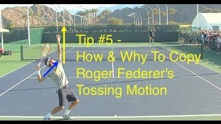 getlinkyoutube.com-Roger Federer Serve Tossing Motion - Tip #5