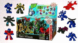 getlinkyoutube.com-Full Set Tiny Titans Series 1 - Transformers Robots In Disguise Toys - New 2015