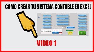 Como Crear un Sistema Contable en Excel - Tema 1