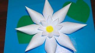 getlinkyoutube.com-Как сделать лилию своими руками (аппликация из бумаги)